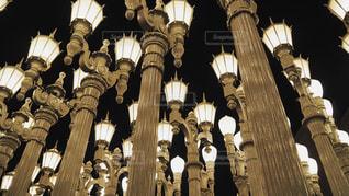 たくさんの街灯の写真・画像素材[971134]