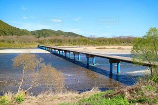 四万十川の佐田沈下橋の写真・画像素材[972069]