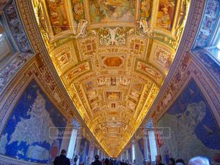 バチカン美術館の天井画の写真・画像素材[974331]
