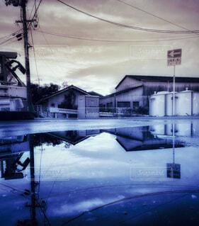 セピアンブルーの風景の写真・画像素材[3650362]