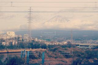 東海道線車窓(富士山)の写真・画像素材[971635]