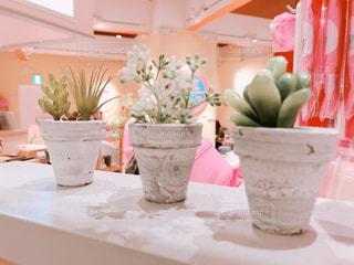 テーブルの上の花の花瓶の写真・画像素材[971827]