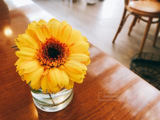 テーブルの上に座って花の花瓶の写真・画像素材[971846]