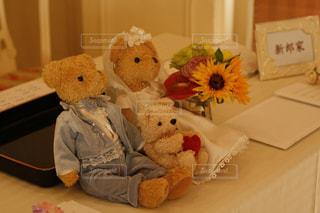 テディベア結婚式の写真・画像素材[973047]