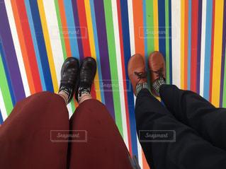 カラフルな床の写真・画像素材[1052759]