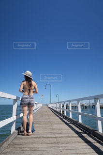 桟橋の写真・画像素材[1727786]