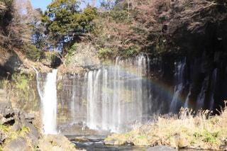 滝にかかる虹の写真・画像素材[974568]