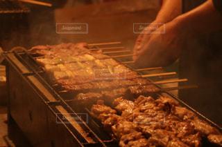 串焼き屋台の写真・画像素材[1074555]