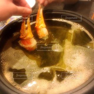 晩御飯はカニしゃぶの写真・画像素材[975799]