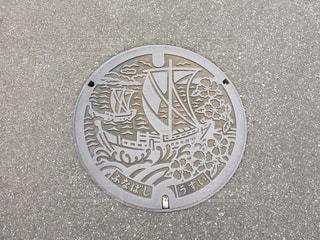 千葉県 船橋市 マンホールの蓋の写真・画像素材[977550]