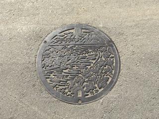 福岡県 久留米市 マンホール蓋の写真・画像素材[977577]