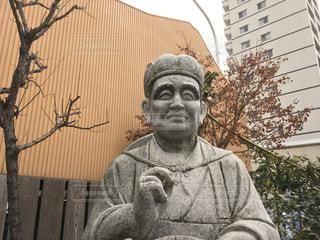 松尾芭蕉の石像の写真・画像素材[984359]