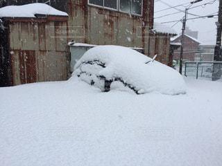 雪に埋まった車 - No.975705
