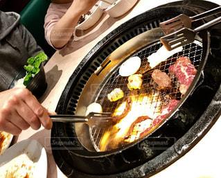 夕食は焼肉の写真・画像素材[1018386]