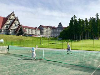 テニスデビューの写真・画像素材[1402438]