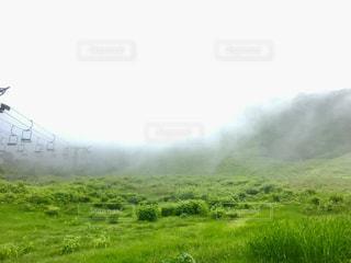 山の緑の野原の写真・画像素材[2275866]
