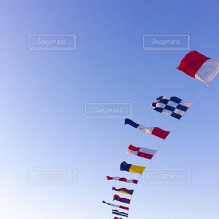 宙を舞うカラフルな凧の写真・画像素材[979442]