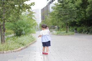 歩く女の子の後ろ姿の写真・画像素材[981273]