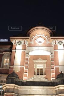 夜の東京駅丸の内側ですの写真・画像素材[1663950]
