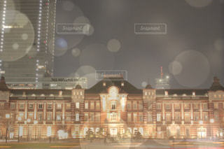 夜の東京駅の写真・画像素材[1855121]