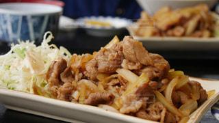 豚の生姜焼きランチの写真・画像素材[1037578]