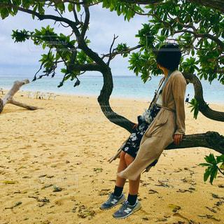 浜辺でまったりとした日の写真・画像素材[1007063]