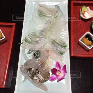イカのお刺身の写真・画像素材[1001413]