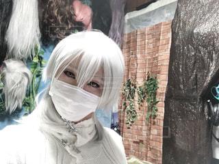 鶴丸国永の目元メイクにチャレンジしてみましたヾ(*´∀`*)ノの写真・画像素材[1018169]