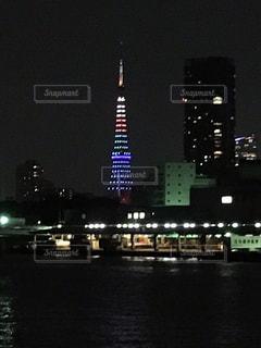 築地市場と東京タワー - No.995157
