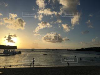 海の夕焼けの写真・画像素材[984227]