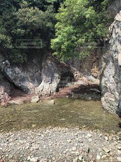 岩場の水の写真・画像素材[987181]