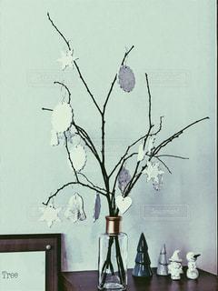 手作り枝ツリーの写真・画像素材[1003625]