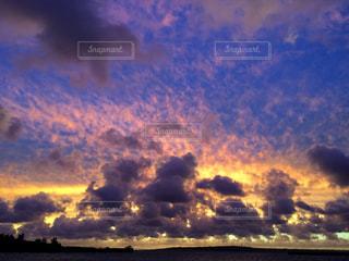 台風直前の夕焼け!の写真・画像素材[992830]