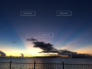 カラフルな夕焼け!の写真・画像素材[1001453]