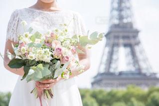 花嫁とブーケの写真・画像素材[1870557]