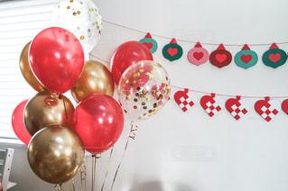 クリスマスのバルーン装飾の写真・画像素材[3015440]
