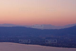諏訪湖の夕焼けの写真・画像素材[989264]