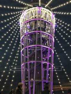江ノ島灯台ライトアップの写真・画像素材[1016187]