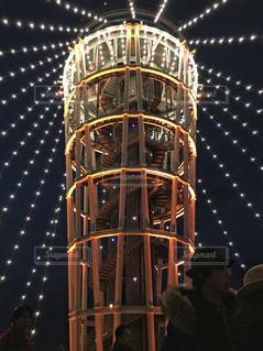 江ノ島灯台ライトアップの写真・画像素材[1016188]