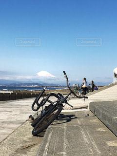 チャリ🚲🏄♂️と富士山🗻の写真・画像素材[1062230]