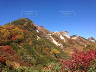 燕岳の紅葉の写真・画像素材[1215578]