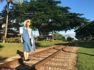ハワイと私の写真・画像素材[990330]