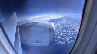 飛行機から景色の写真・画像素材[992671]