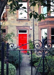 スコットランドの家の庭の写真・画像素材[992673]