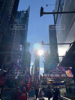 タイムズスクエアに通常が戻りますようにの写真・画像素材[3068624]