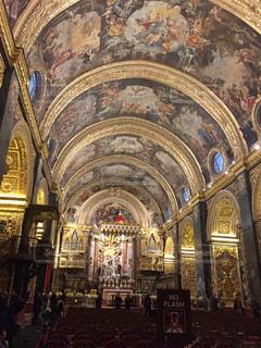 マルタの教会 見事な天井絵の写真・画像素材[991263]