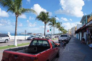 メキシコの海沿い通りの写真・画像素材[993198]