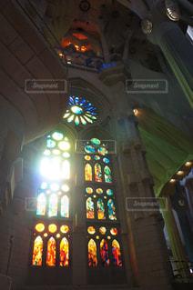 サグラダファミリアのステンドグラスの写真・画像素材[993215]