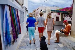 サントリーニ島散策の写真・画像素材[996608]