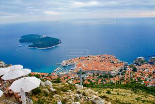 山から見下ろす旧市街の写真・画像素材[1124291]